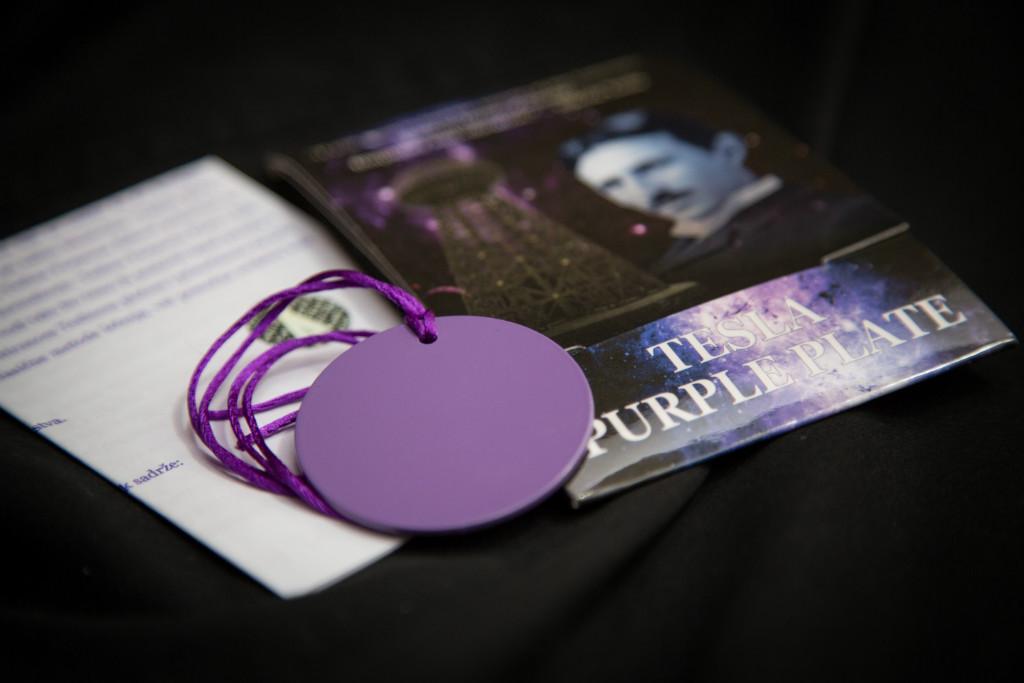 tesla purple disc