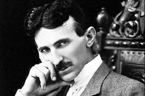 Nikola Tesla purple plates